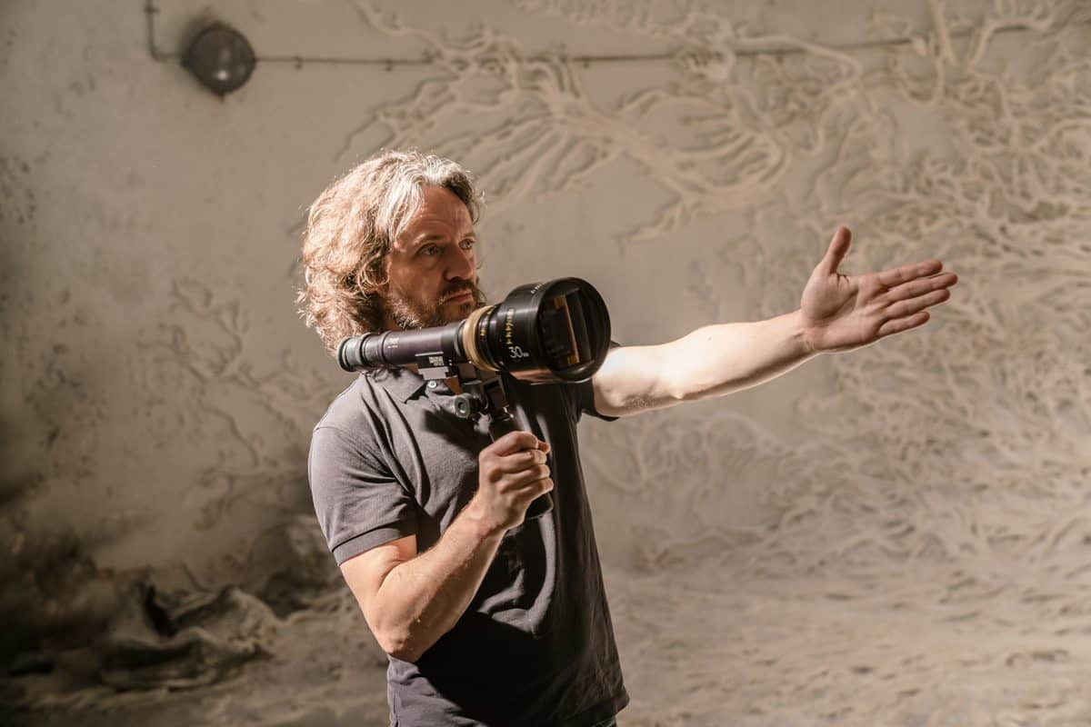 Director of Photography Rob Hardy on the set of <em>Annihilation</em>. Photo credit: Peter Mountain