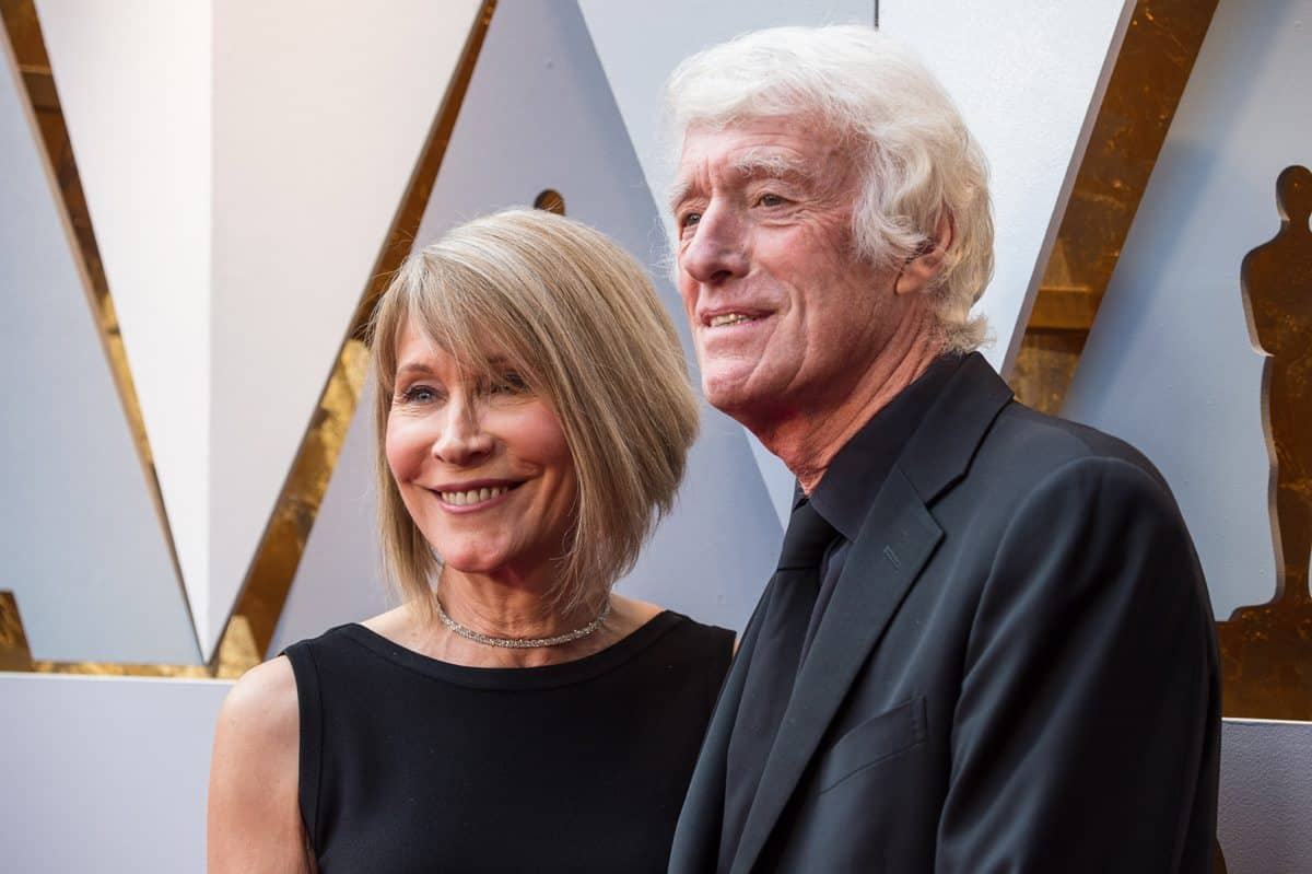 James and Roger Deakins arrive on the red carpet. Credit: Phil McCarten / A.M.P.A.S.