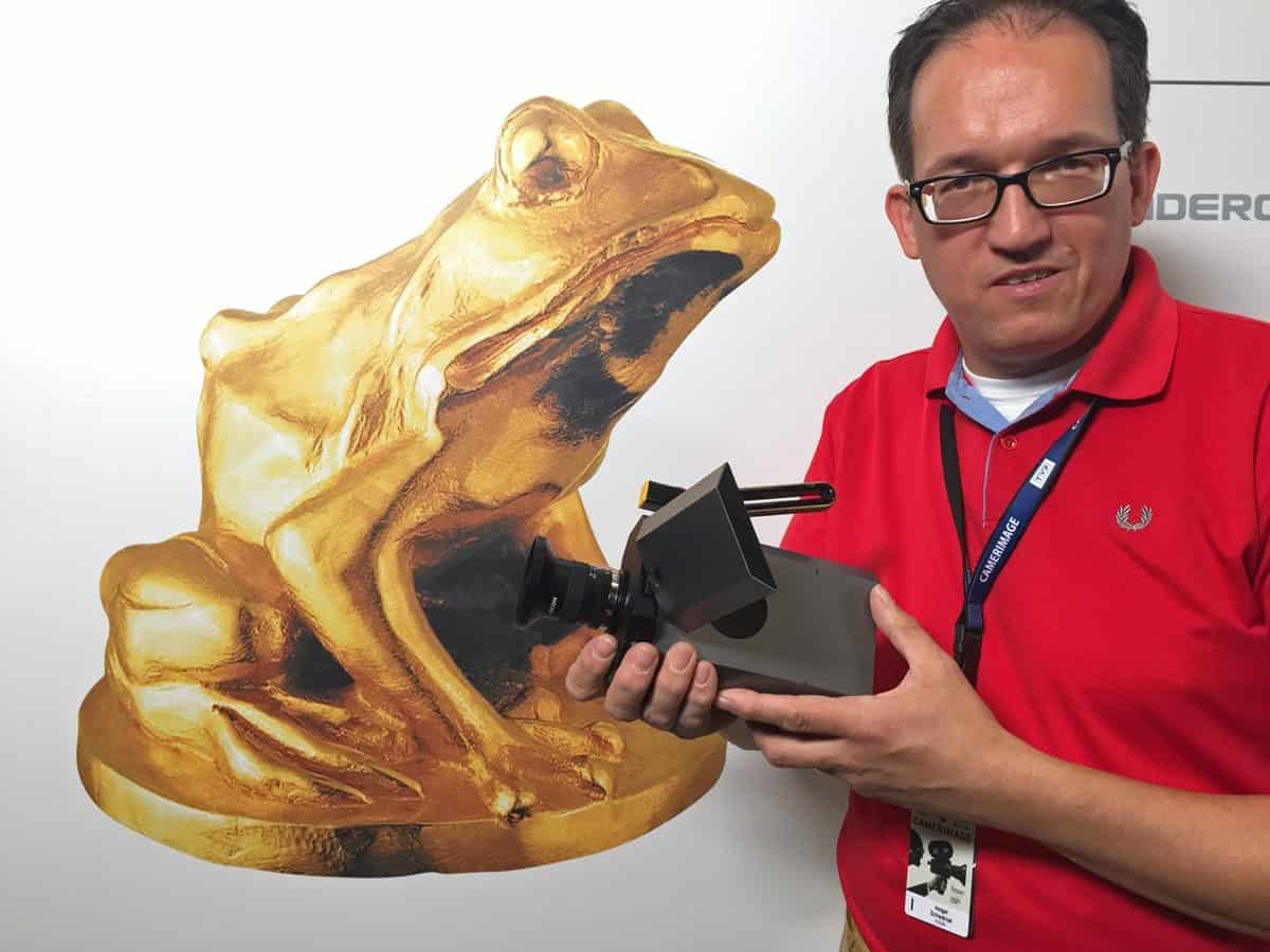 Kodak's Holger Schwärzel shows off his new baby!