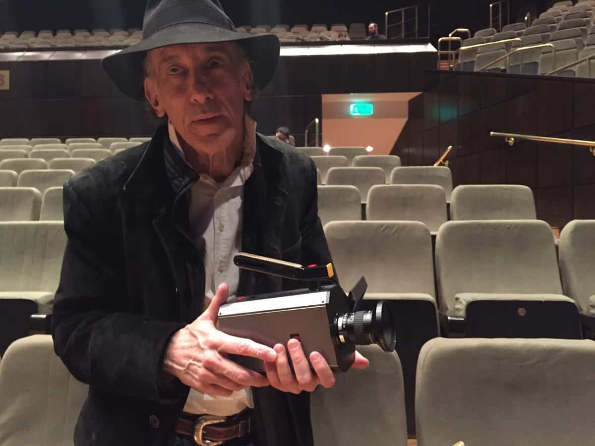 Ed Lachman with Kodak's Super 8mm camera