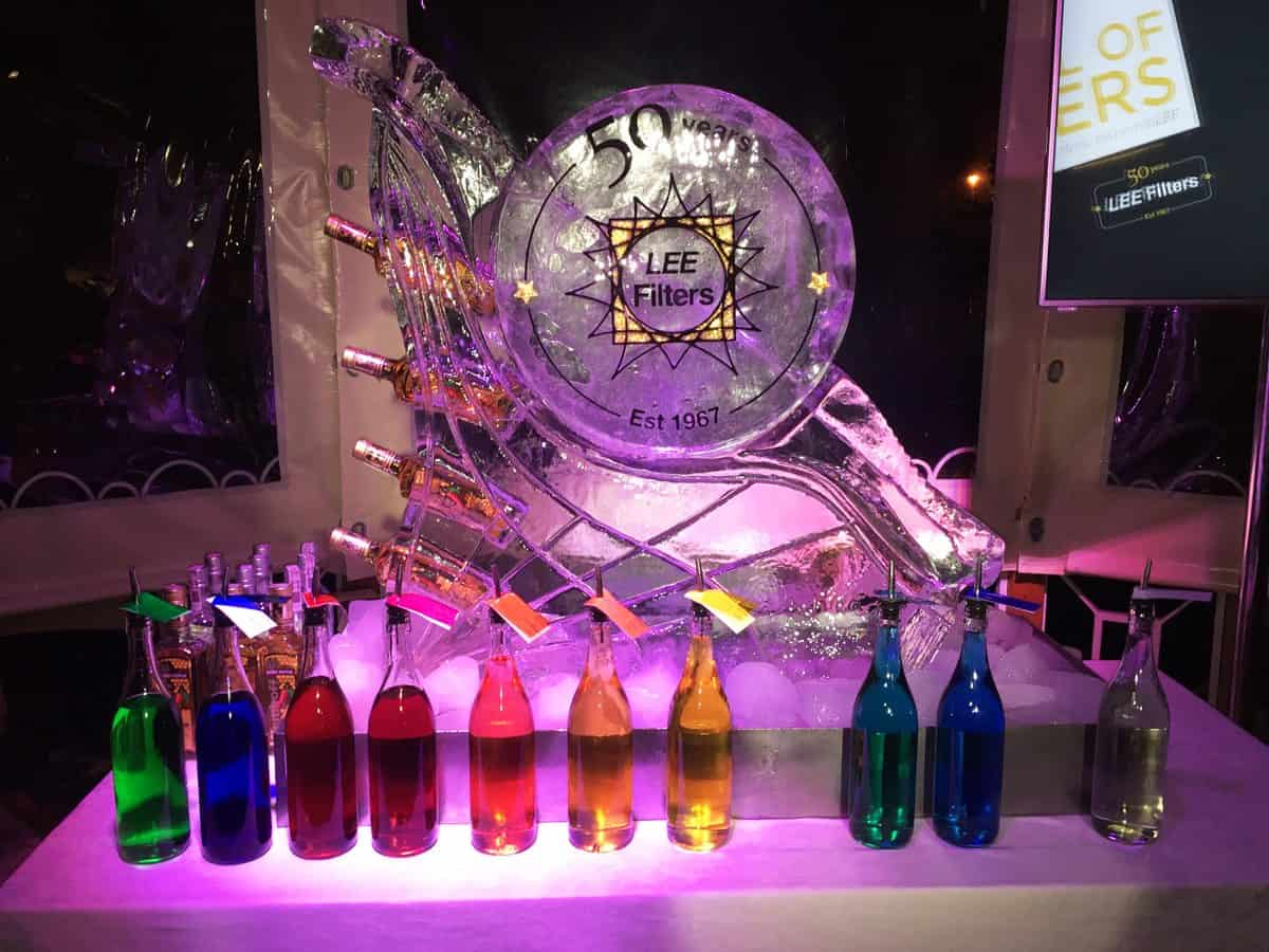 LEE Filters' celebratory vodka luge