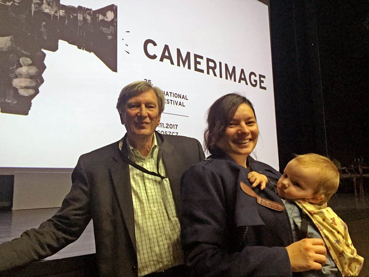 John Bailey ASC with Elen Lotman and baby Arthur