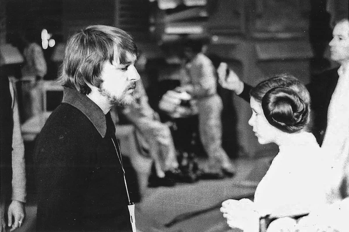1976... <em>Star Wars</em> with stand-in for Carrie Fisher