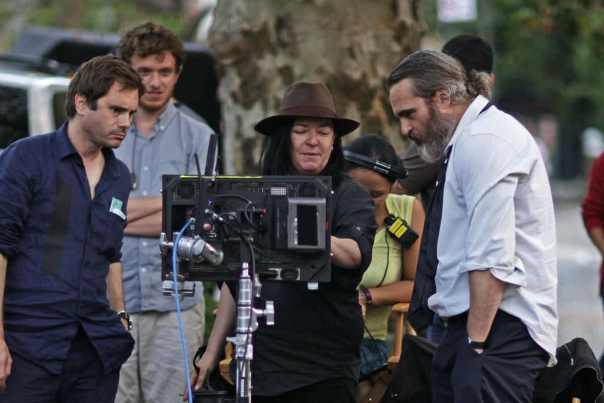 DP Tom Townend, Director Lynne Ramsay and Joaquin Phoenix