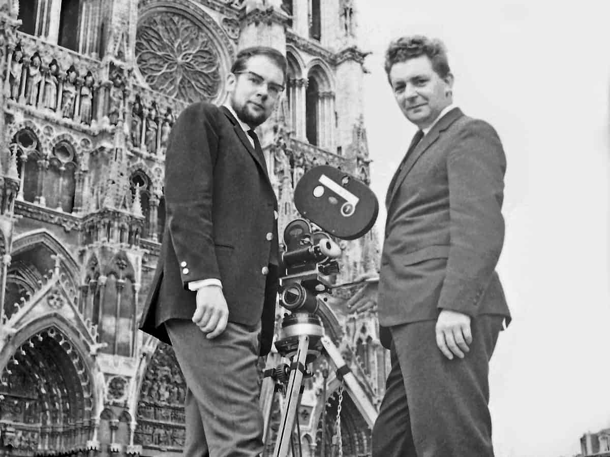 Dedo Weigert with British cameraman Johnny Peters