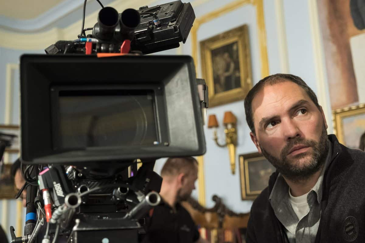 DoP Mathias Herndl on the set of National Geographic's <em>Genius: Picasso</em> (National Geographic/Dusan Martincek)