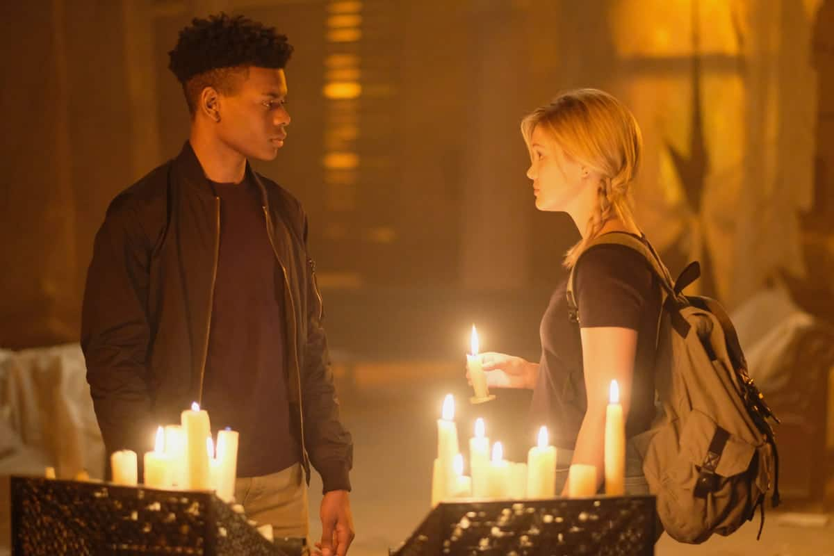 Tandy Bowen (Olivia Holt) and Tyrone Johnson (Aubrey Joseph) in <em>Cloak and Dagger</em>(Freeform/Alfonso Bresciani)