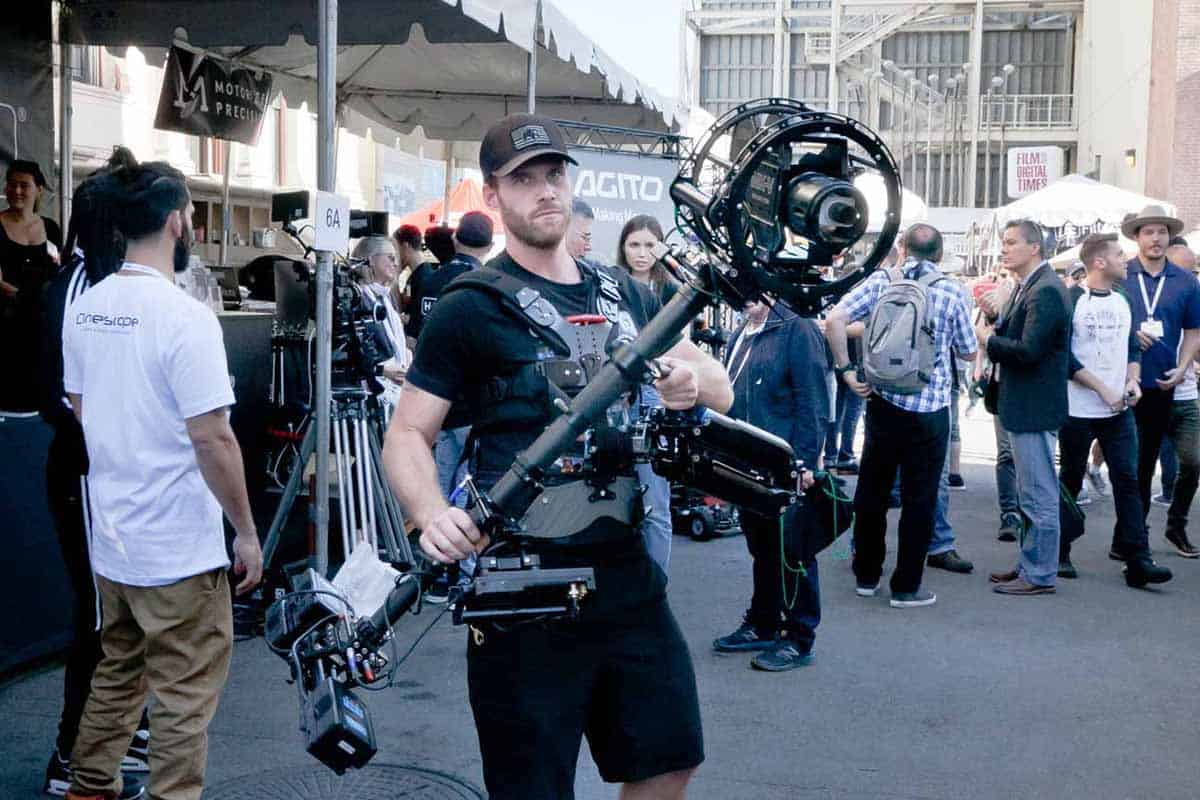 The MK-V Omega System is the perfect addition to a regular Steadicam. <br>©2018 George Leon/FILMCASTlive