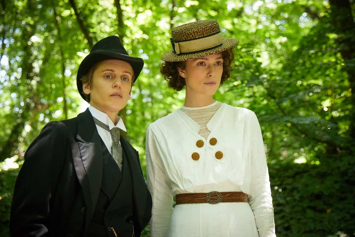 Denise Gough stars as Missy and Keira Knightley as Colette. Credit: Robert Viglasky/Bleecker Street