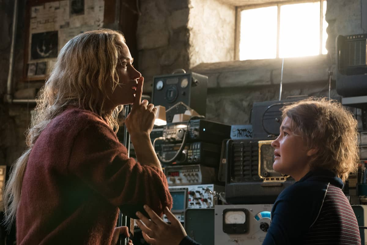 Left to right: Emily Blunt and Millicent Simmonds in A QUIET PLACE, from Paramount Pictures.