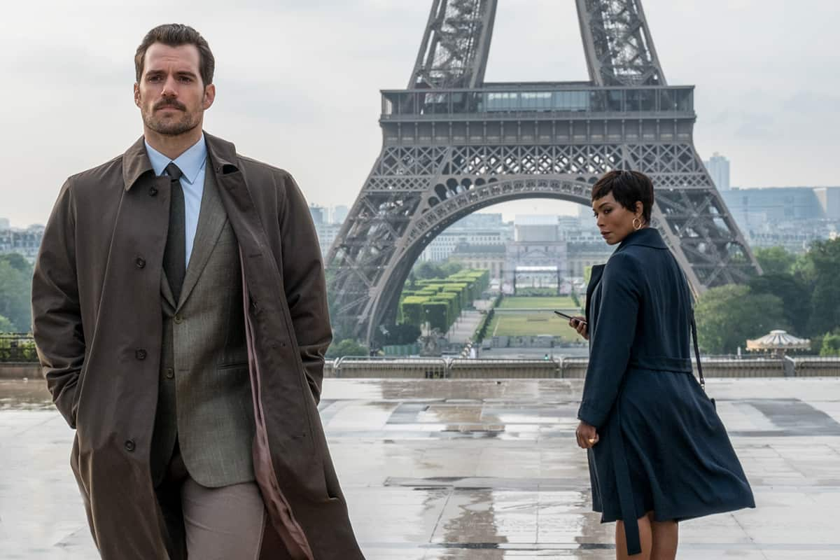 Left to right: Henry Cavill and Angela Bassett in MISSION: IMPOSSIBLE - FALLOUT