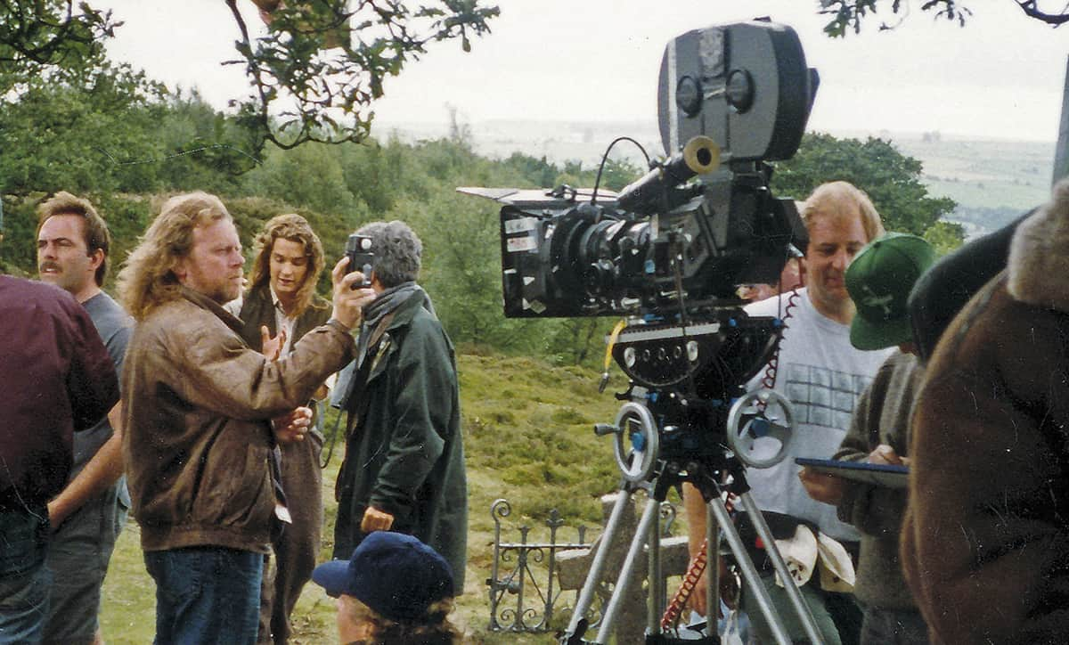 (left) On location in Derbyshire, for <em>Dragonworld</em> (1994)