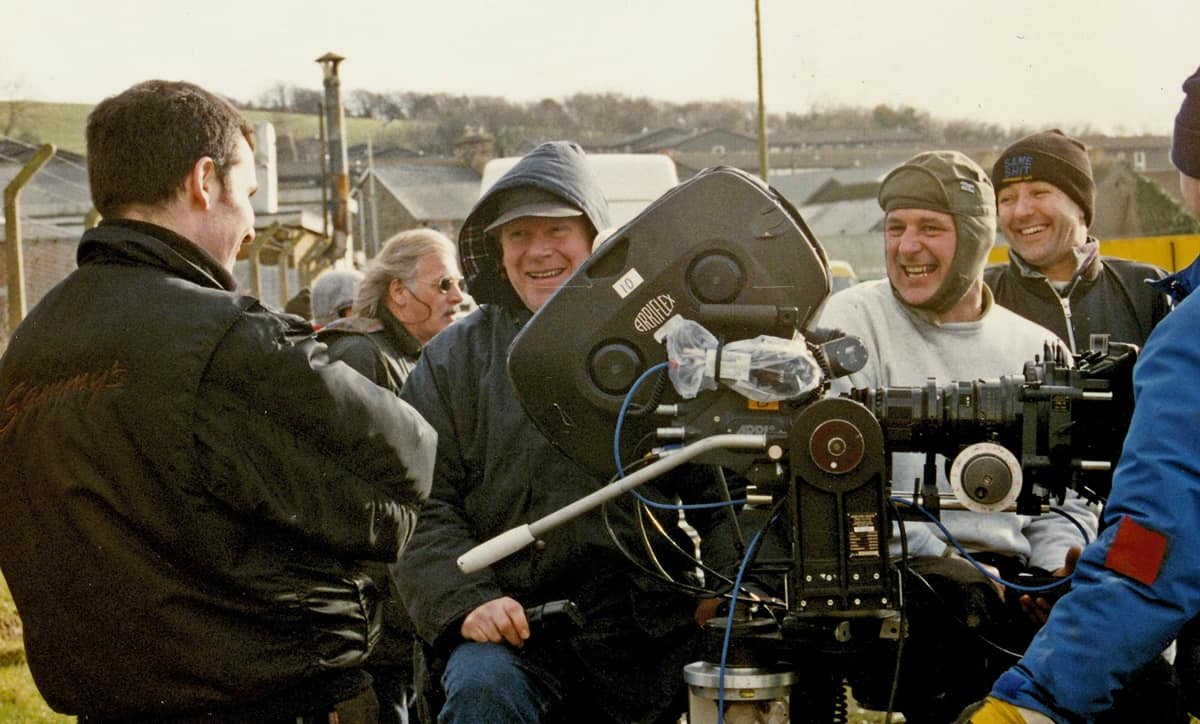 On location in Wales for <em>Up'N'Under</em> (1998)