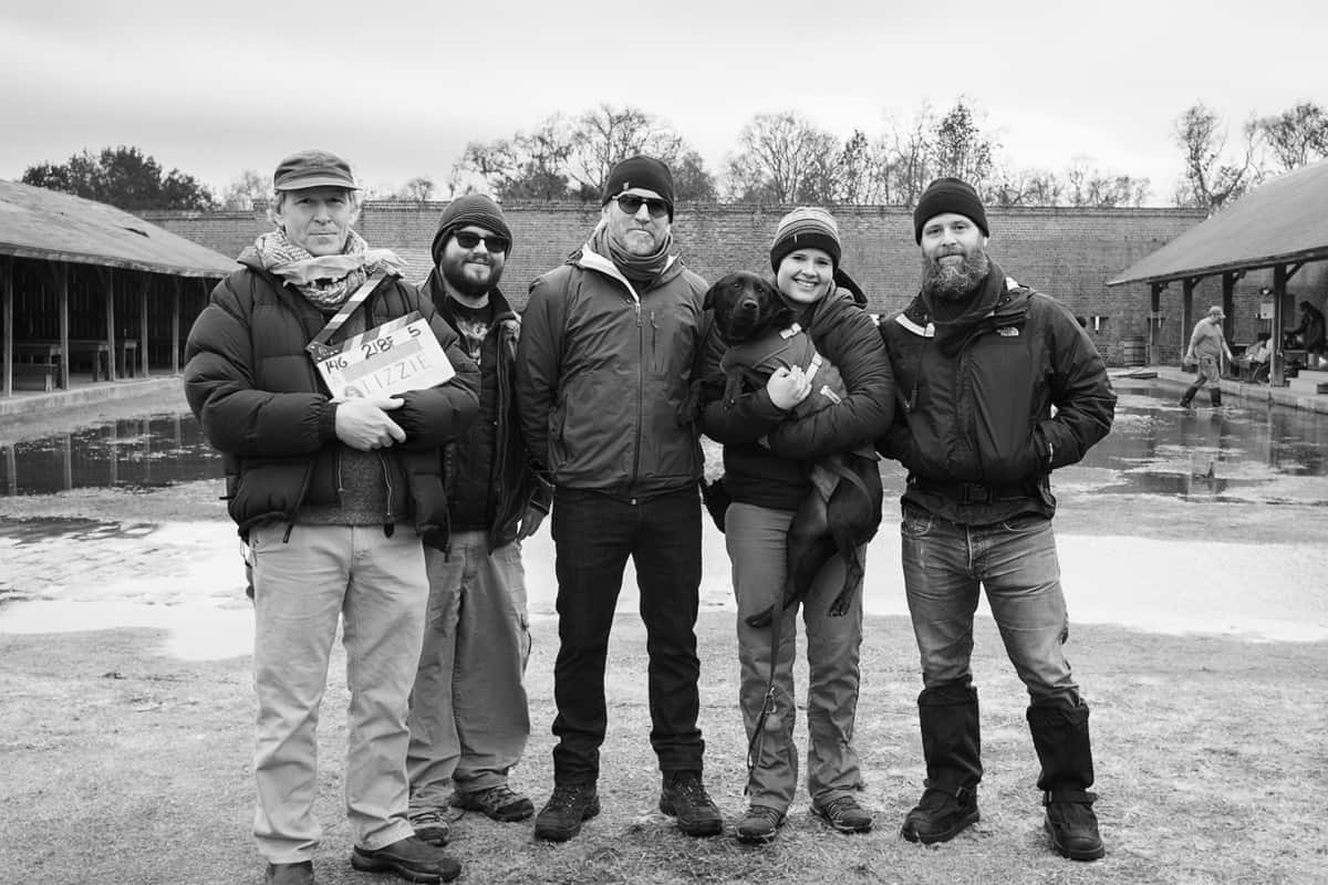 © Noah Greenberg 2016 <br>Left to right: Richard J. Lacy (First AC), Matt Dixon (Media Manager), Chris W. Johnson (Camera Operator), Wiley (Dog), Kane Pearson (Second AC), Noah Greenberg (DP)