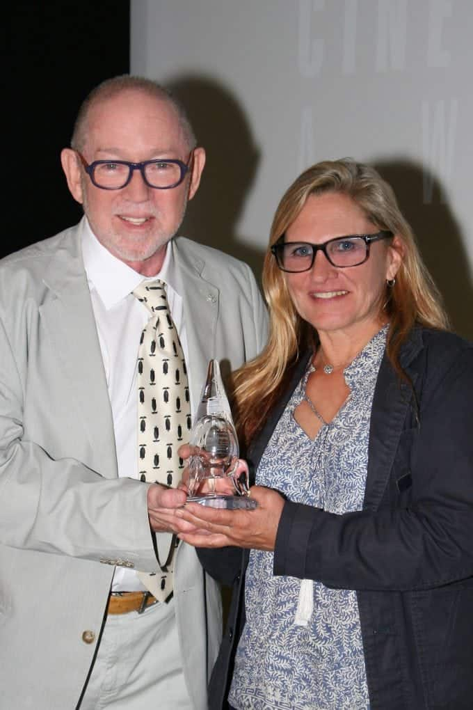 ICG 600 President Steven Poster with Amelia Vincent, recipient of the ASC Mentorship Award