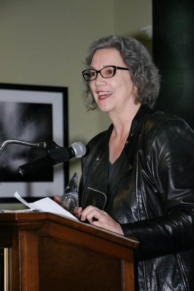 "Anne Thompson, IndieWire's Editor-at-Large, received Technicolor's ""William A. Fraker"" Award for journalistic contributions in cinematography"