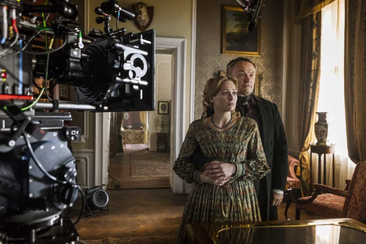 BTS, Jared Harris as Francis Crozier, Sian Brooke as Sophia Craycroft - The Terror _ Season 1, Episode 4 - Photo Credit: Aidan Monaghan/AMC