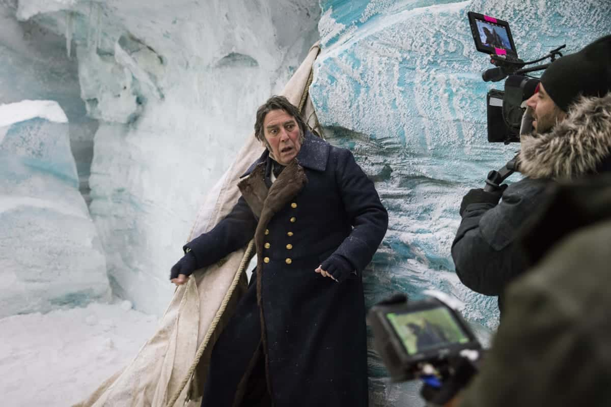 BTS, Ciarán Hinds as John Franklin - The Terror _ Season 1, Episode 3 - Photo Credit: Aidan Monaghan/AMC