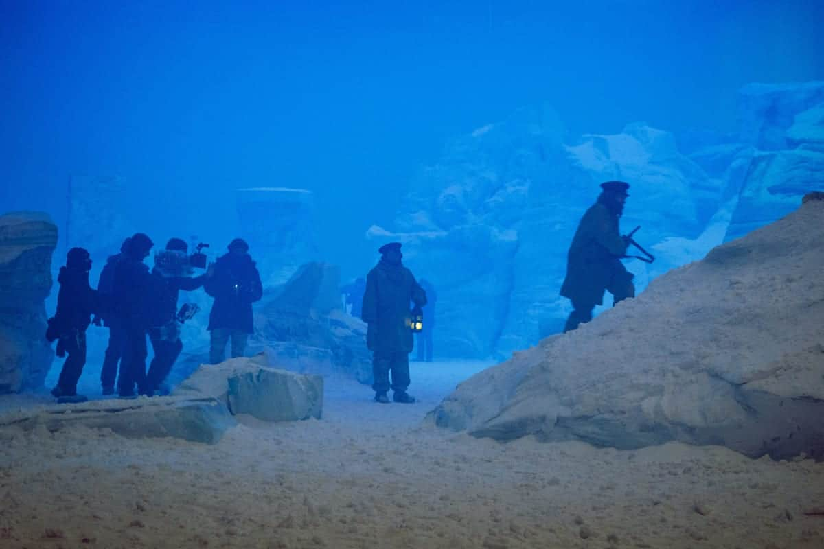 BTS, Jared Harris as Francis Crozier - The Terror _ Season 1, Episode 4 - Photo Credit: Aidan Monaghan/AMC