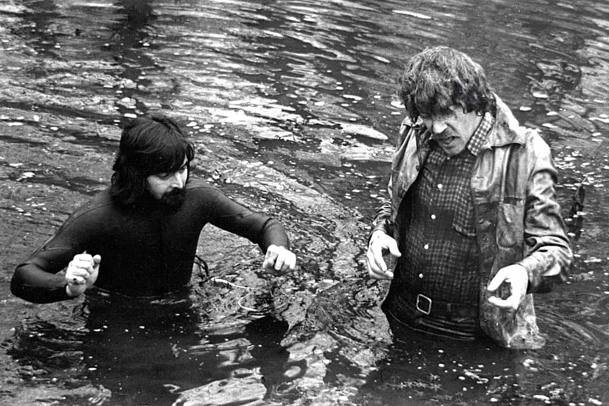 Pictured during production on <em>Don't Look Now</em> with Donald Sutherland