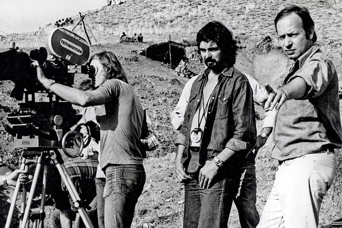 <em>Silver Bears</em> (l-r): Mike Roberts operating for the first time, with Tony and director Ivan Passer