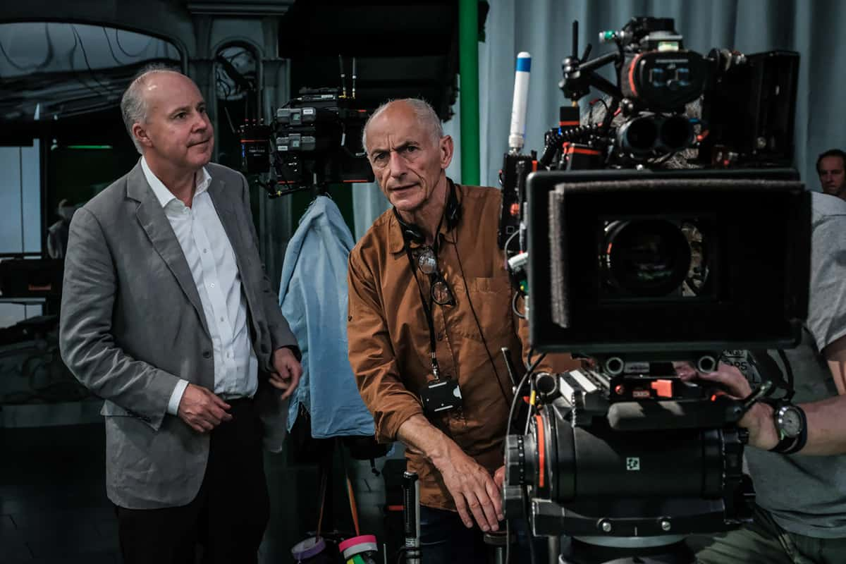 Director David Yates and DP Philippe Rousselot AFC ASC. Photo by Liam Daniel
