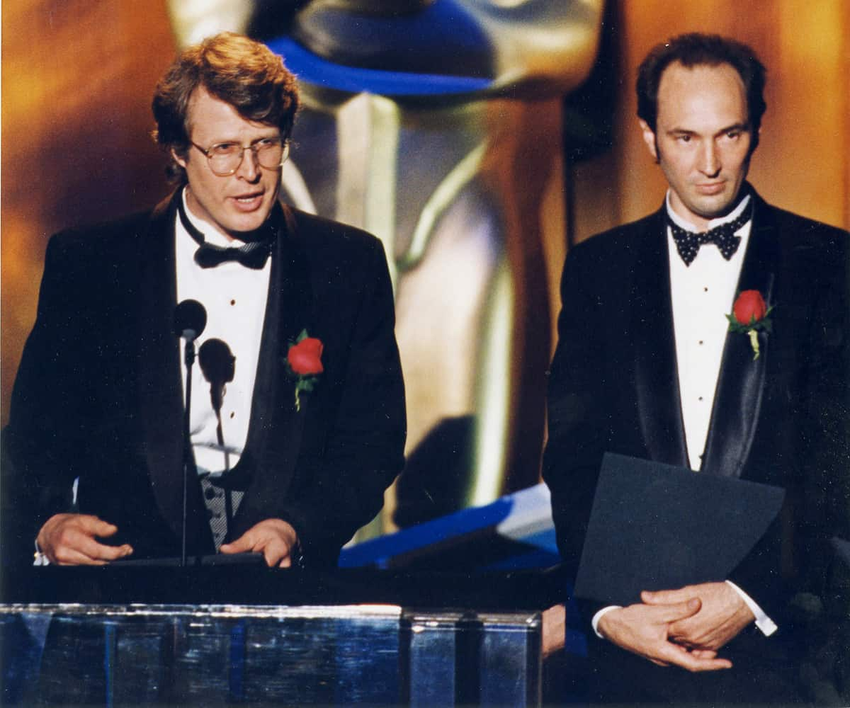 Frieder and Gary Swink at the 1995 Academy Awards