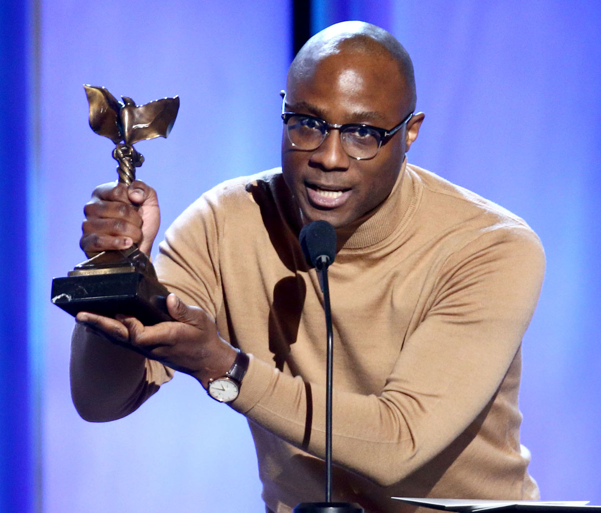 Barry Jenkins accepts  Best Director for <em>If Beale Street Could Talk</em> during the Independent Spirit Awards (Photo by Tommaso Boddi/Getty Images)