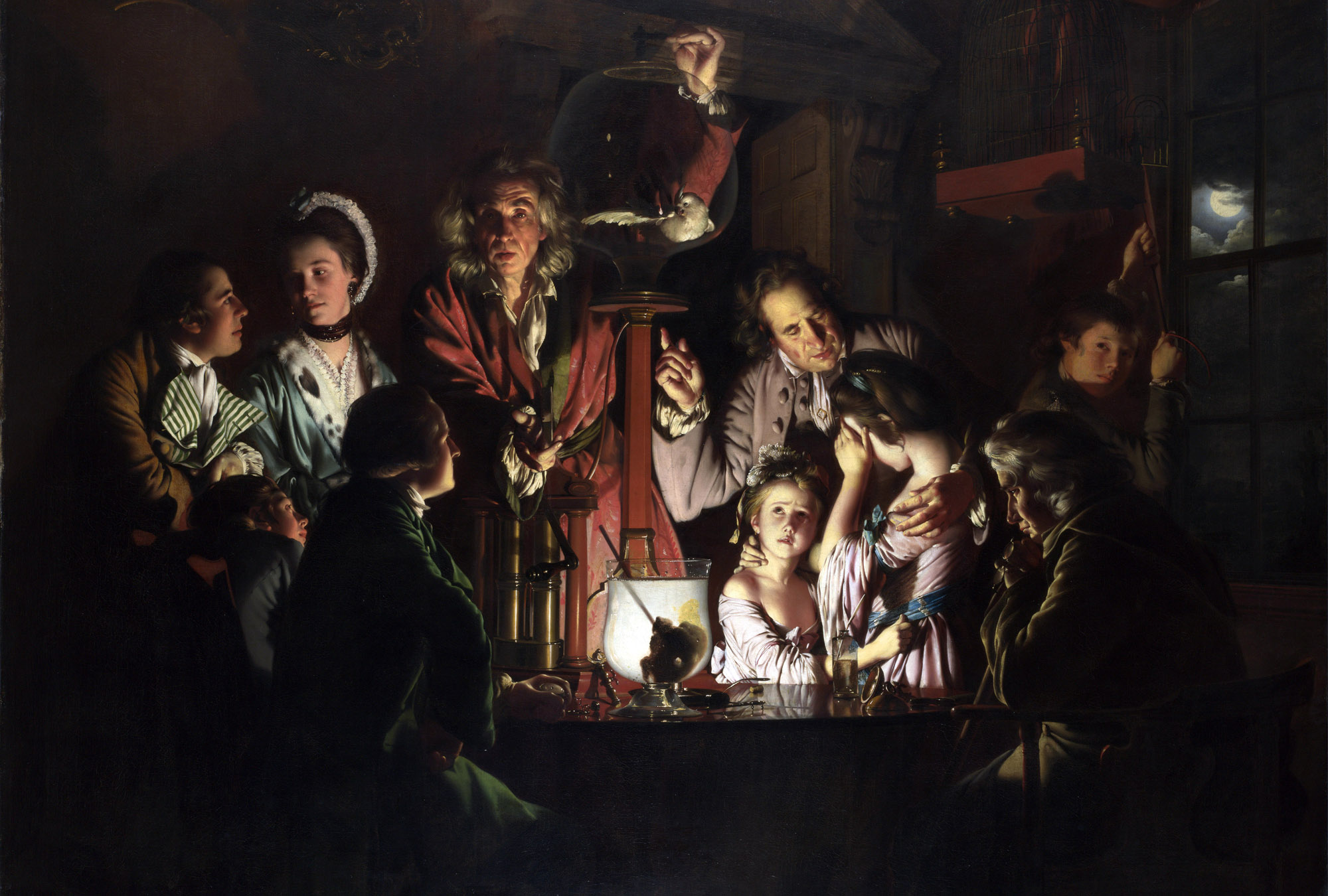 <em>An Experiment on a Bird in an Air Pump</em> - Joseph Wright of Derby, 1768