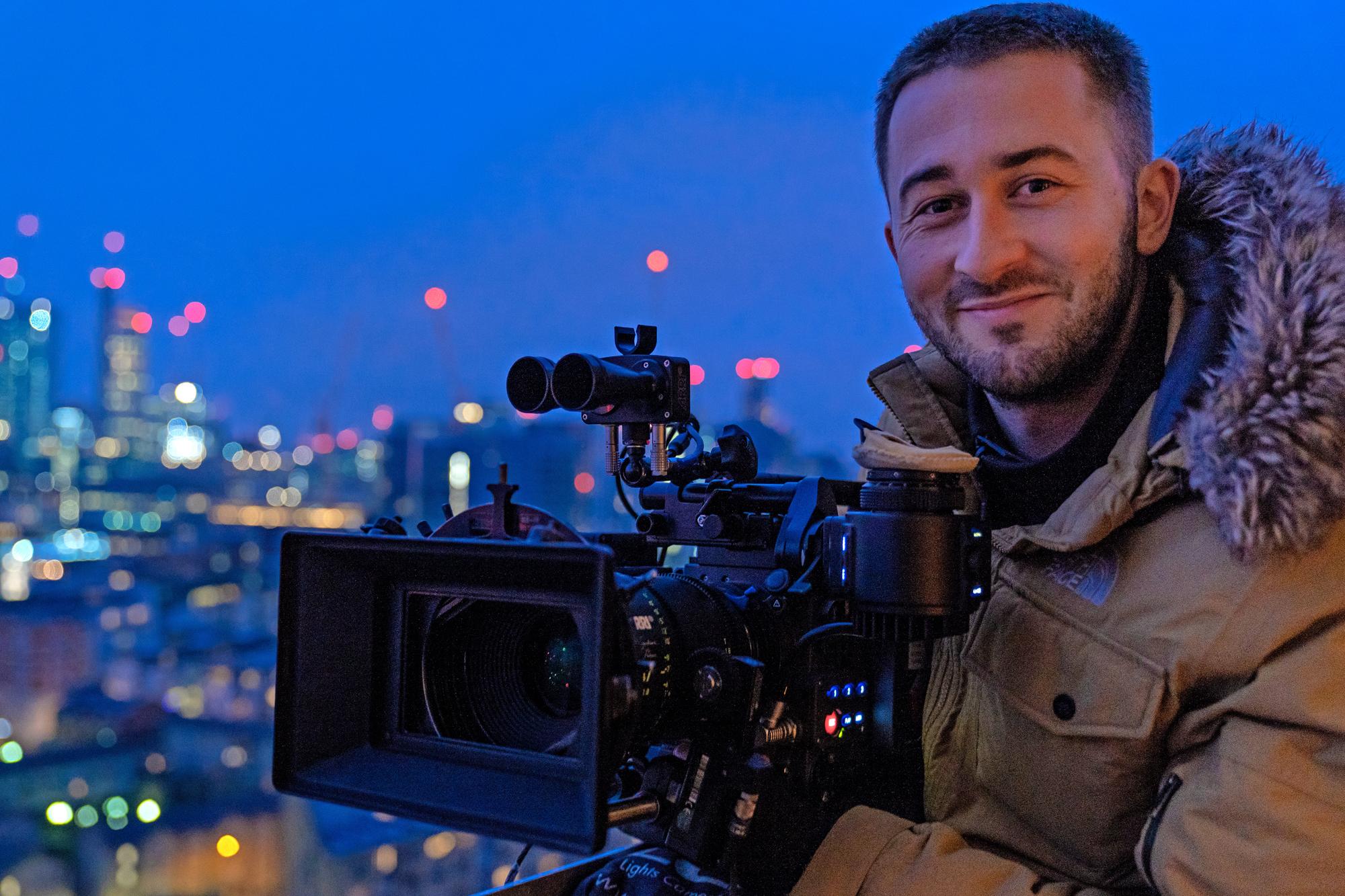 Dan Atherton shooting <em>The Passenger</em> on the Alexa LF