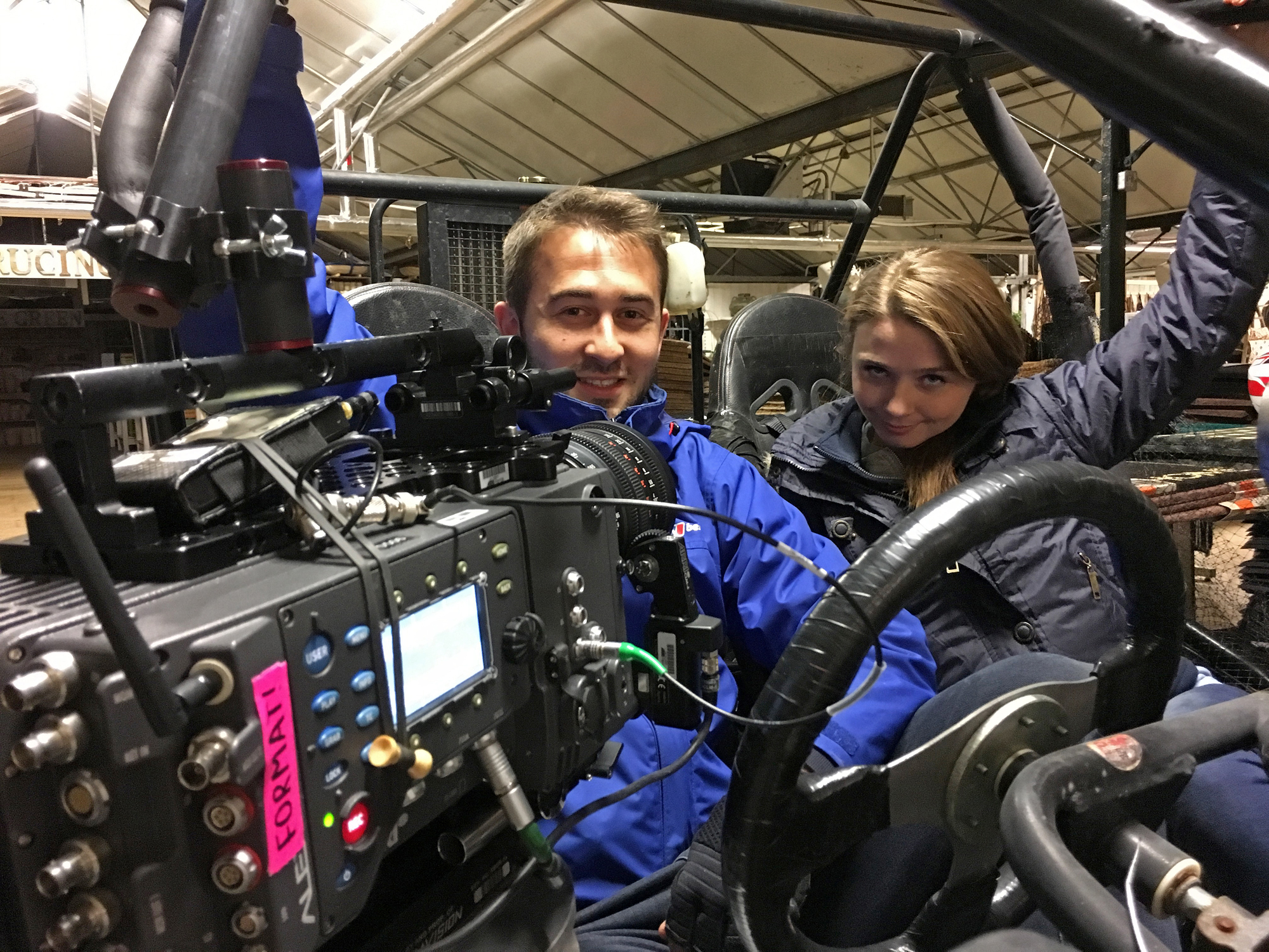 Dan with Jessica Barden and the Alexa 65