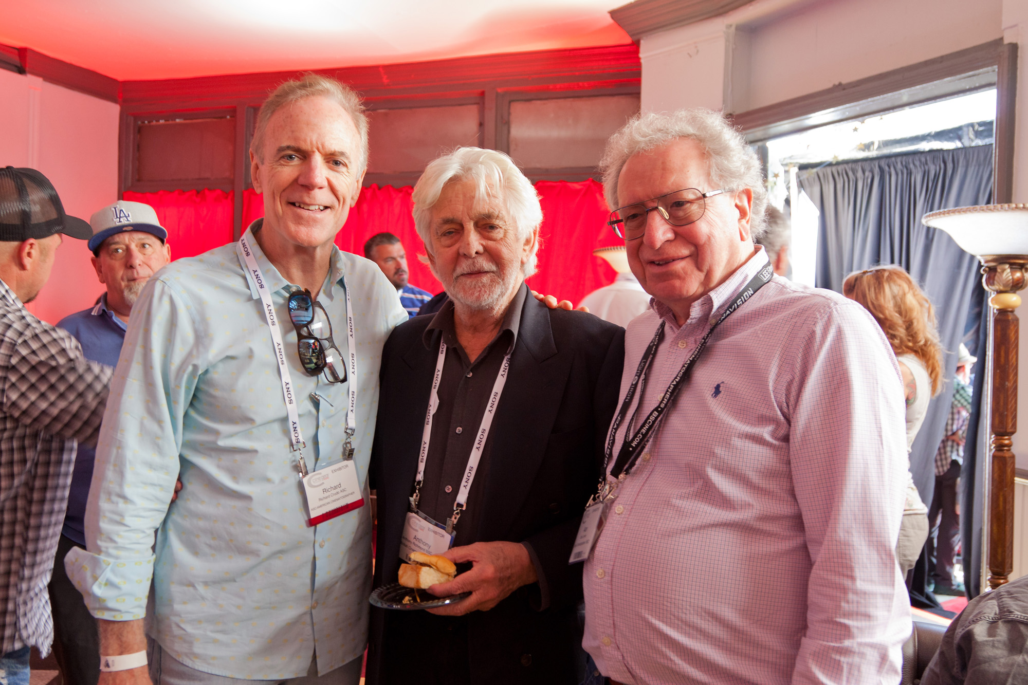 Among the visitors to the MBS lounge were Richard Crudo ASC, Tony Richmond BSC ASC and British Cinematographer magazine publisher Alan Lowne (above). Photos by George Leon/Filmcastlive