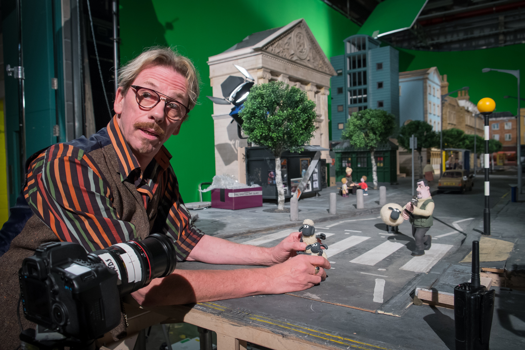 At work on one of the sets for <em>Shaun the Sheep: The Movie</em>