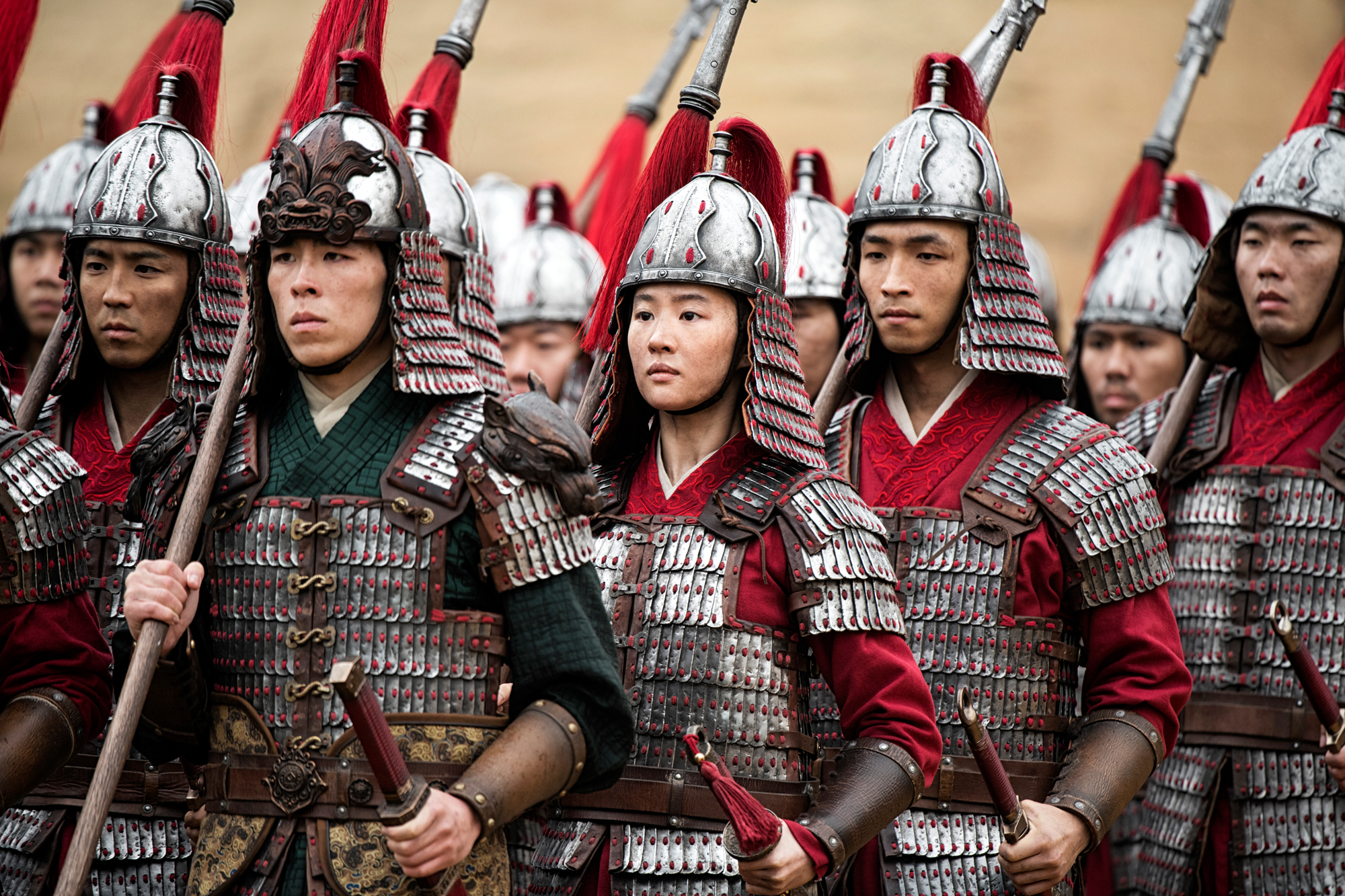 Disney's MULAN..C to R: Mulan (Yifei Liu) and Honghui (Yoson An)..Photo: Jasin Boland..© 2019 Disney Enterprises, Inc. All Rights Reserved.