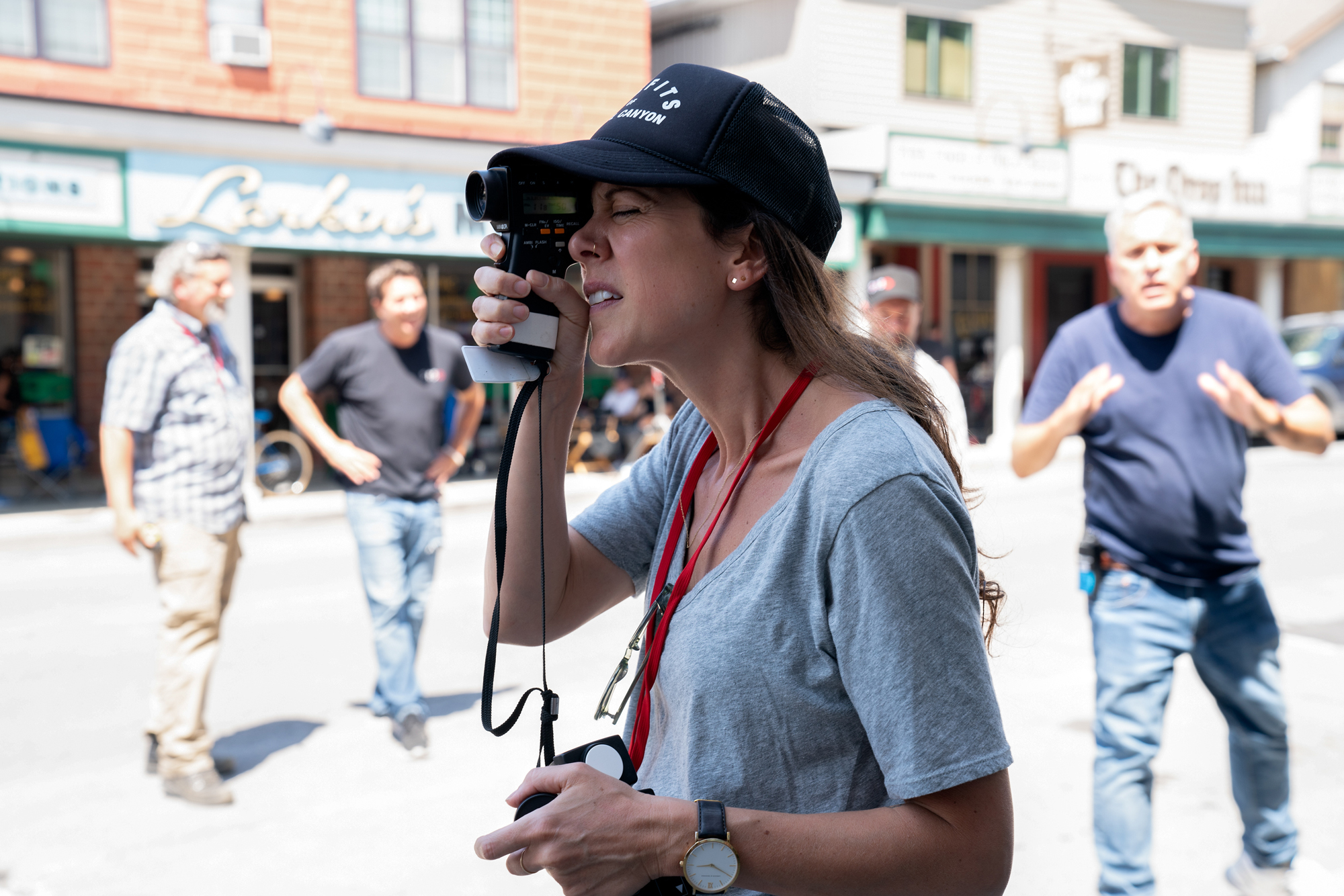 "Cinematographer Polly Morgan on the set of Paramount Pictures' ""A Quiet Place 2."""