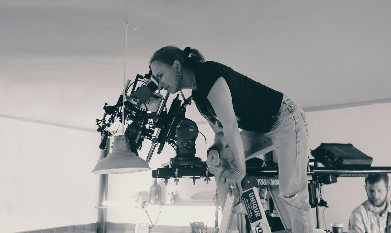 Cinematographer Oona Menges - Behind the scenes - Amsterdam, BW - photo credit Ashley Kingsbury