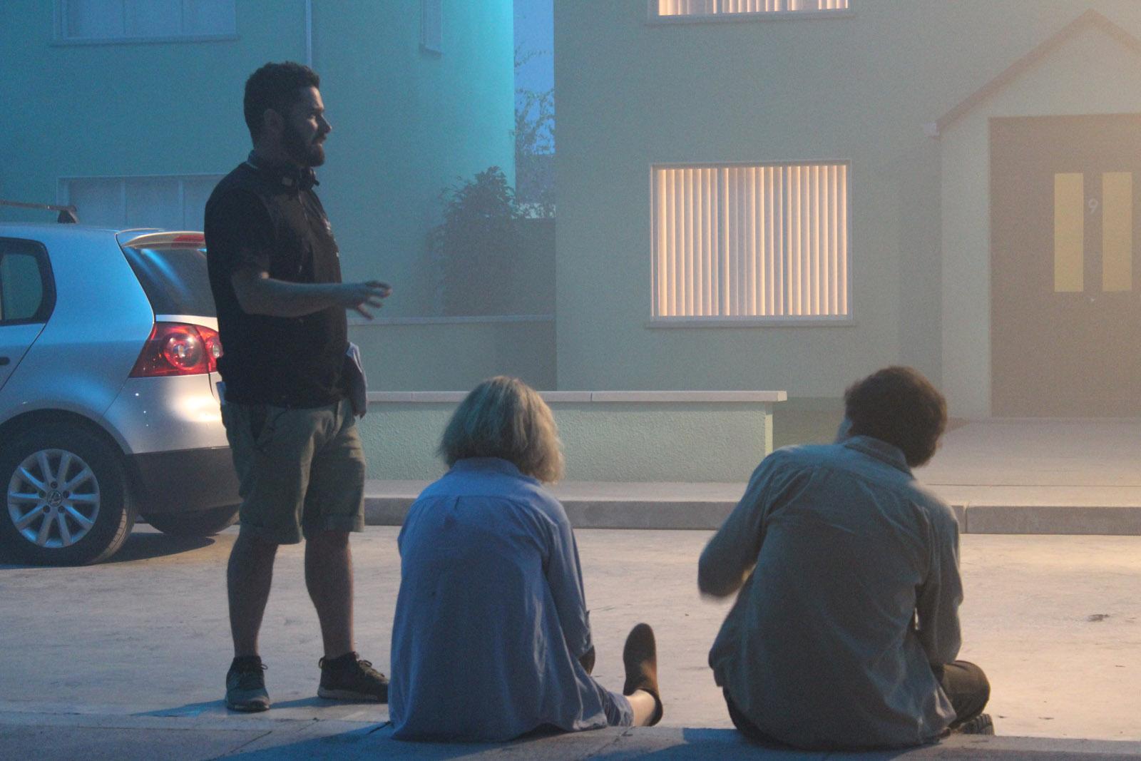 0127 BTS Imogen Poots (Gemma), Jesse Eisenberg (Tom), Lorcan Finnegan (Director) and - John McDonnell