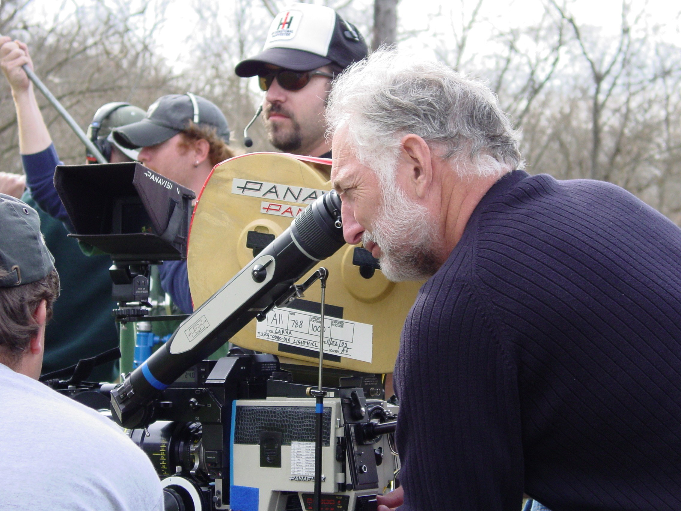"The ASC's newley-elected president Stephen Lighthill ASC shooting a scene for ""Larva.""   Photo by Andrew DePung."