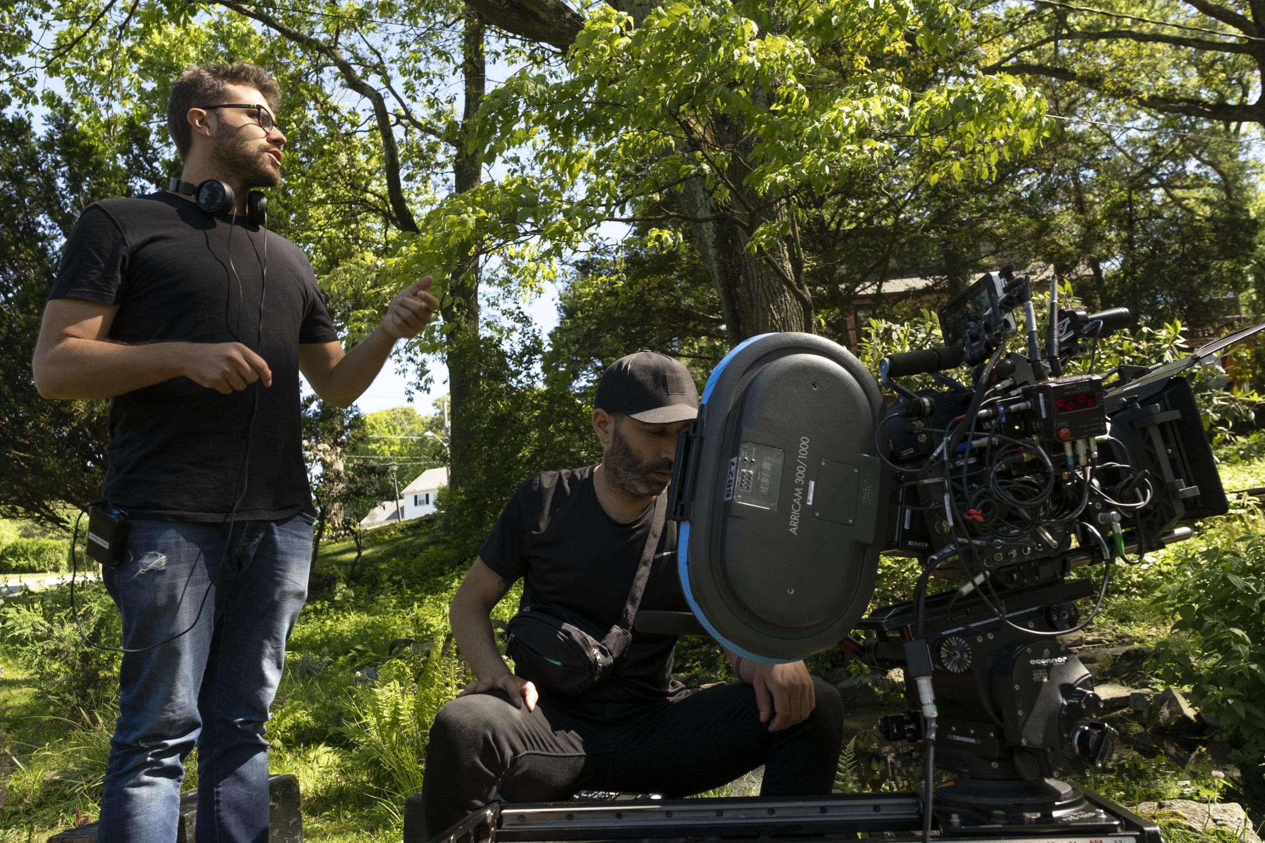 Director Richard Tanne & cinematographer Albert Salas on the set of Chemical Hearts.