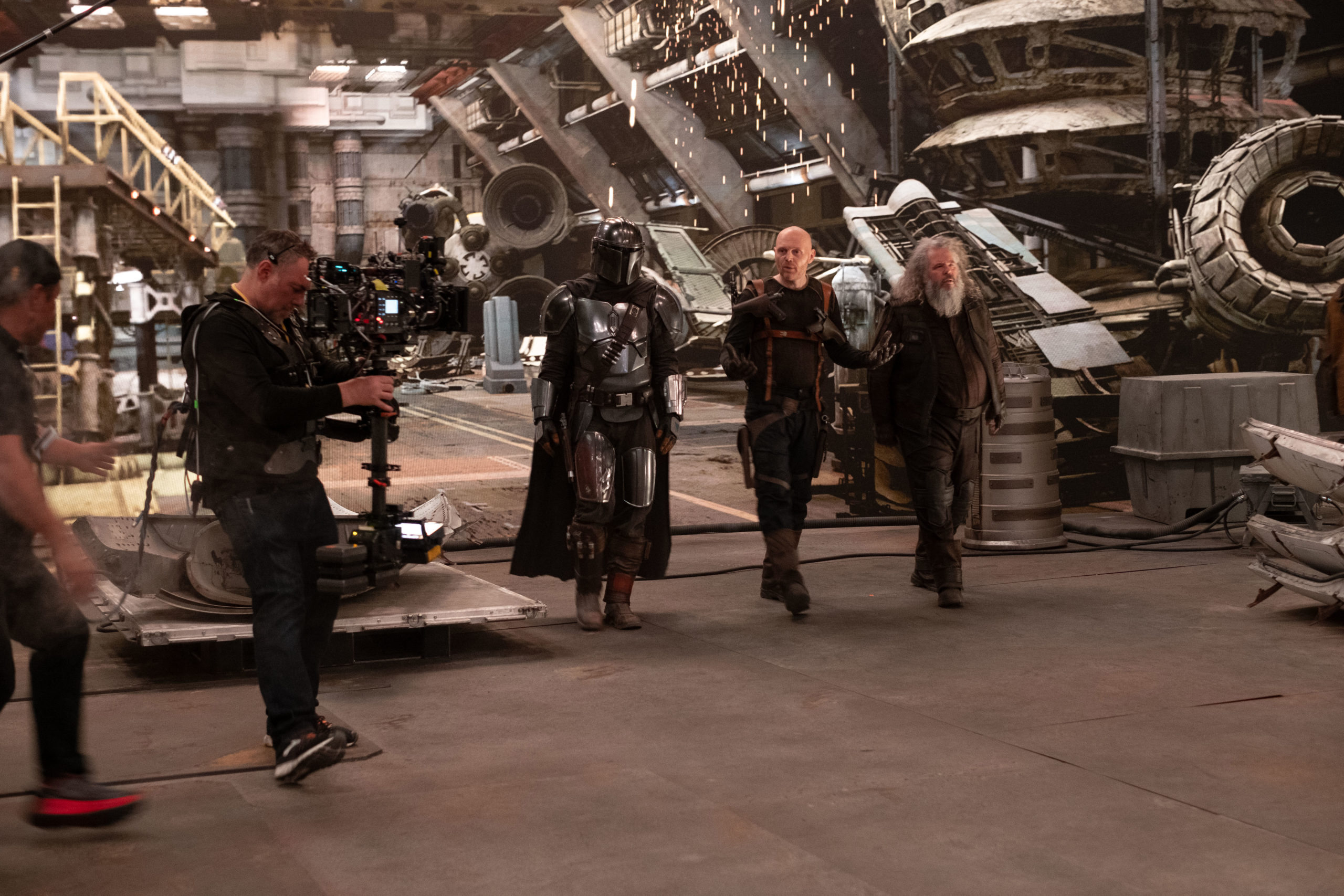 Behind the scenes of The Mandalorian