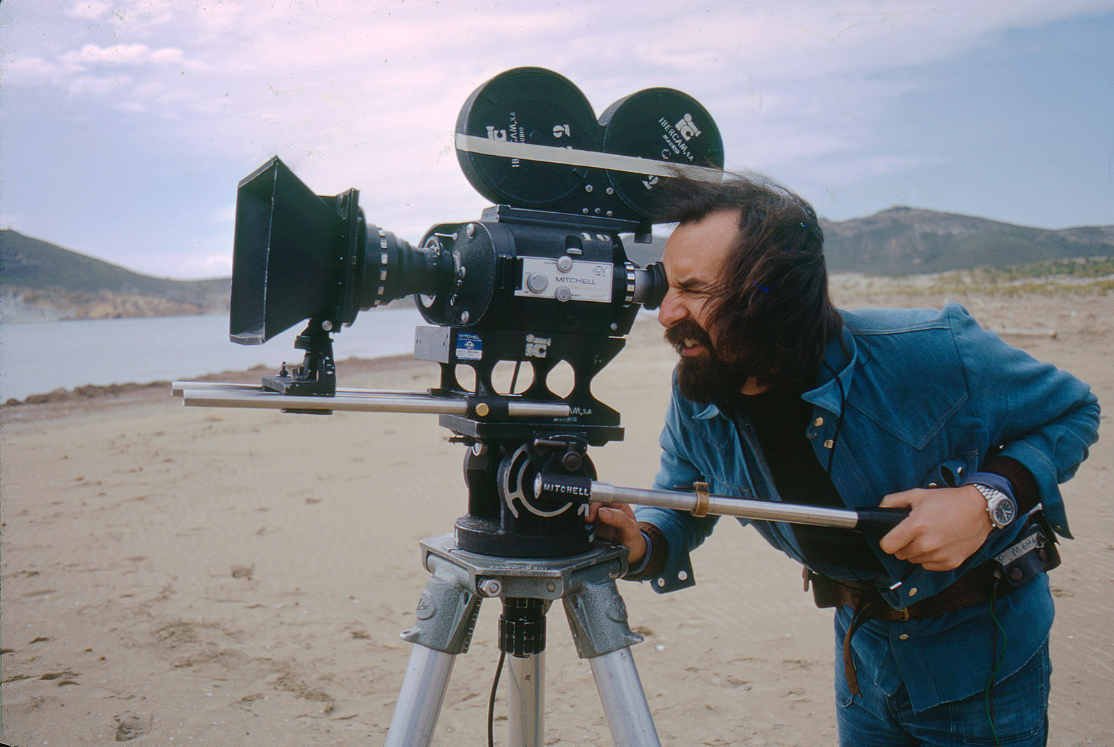 Shooting visusal effects plates for <em>The Discoverers: Columbus</em> for BBC on 35mm (1974)