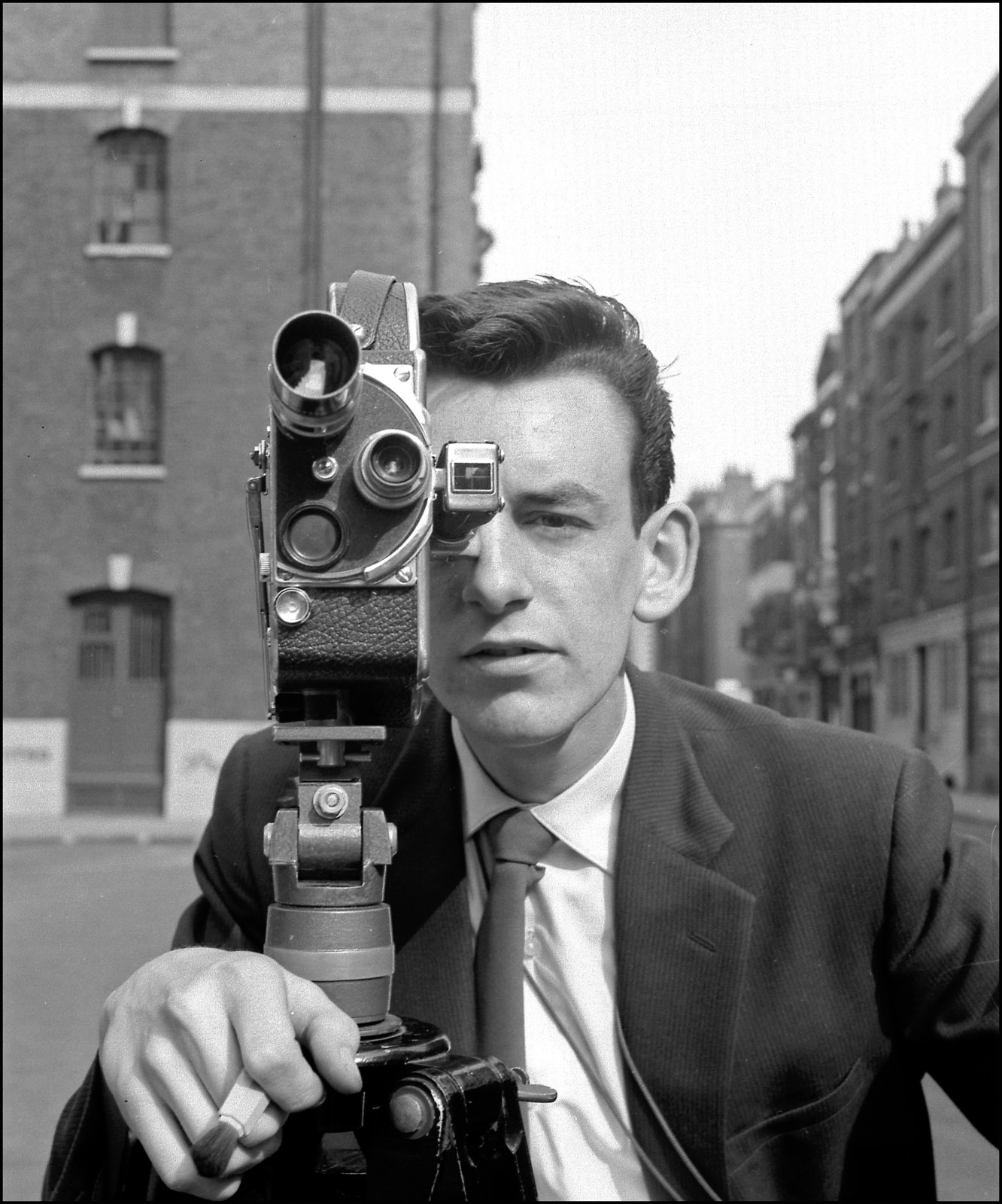 Phil at 18 with his first film camera shooting a non-professional film <em>Dust In The Wind</em> (1958)