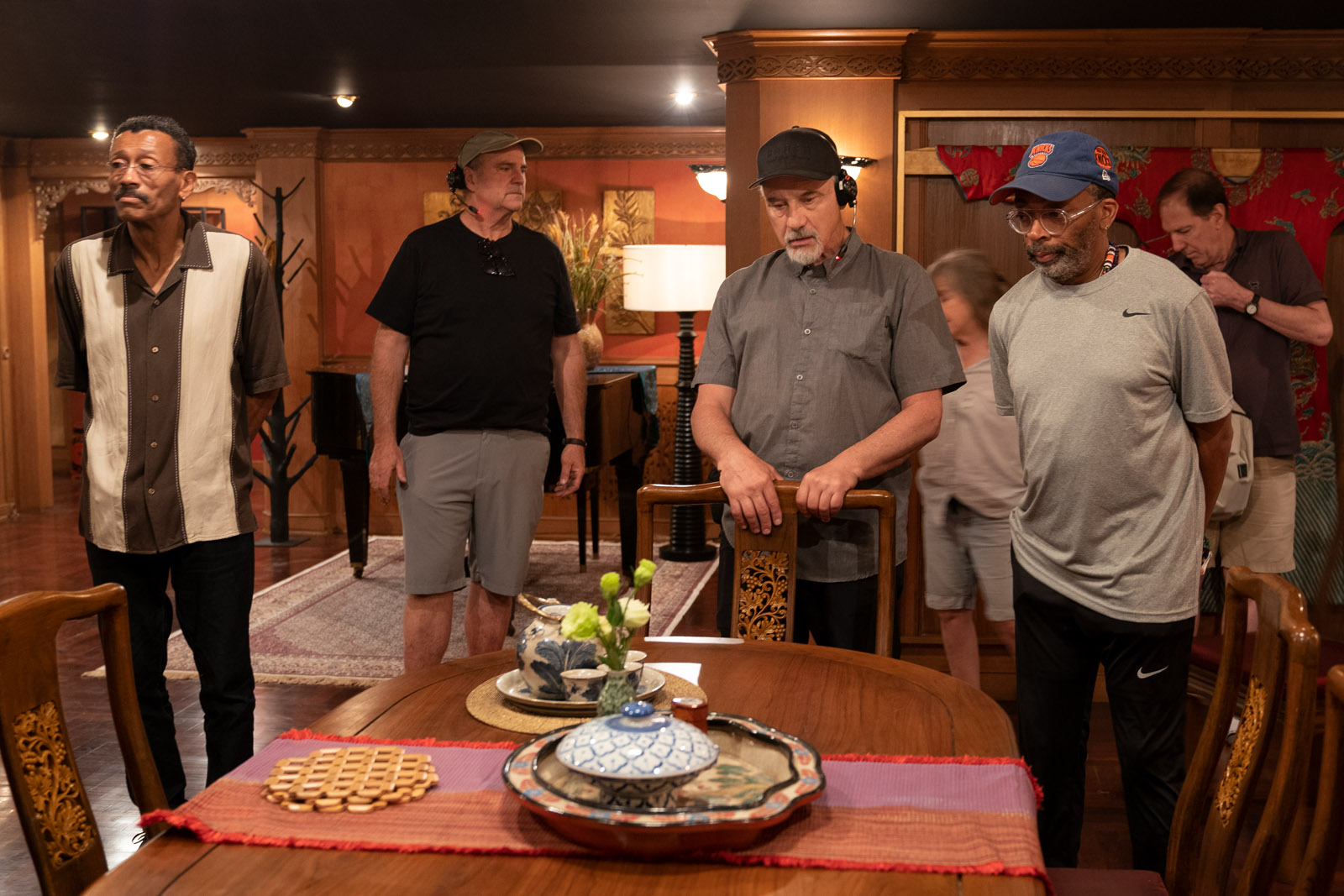 DA 5 BLOODS: (L to R) Production Designer WYNN THOMAS, CINEMATOGRAPHER NEWTON THOMAS SIGEL and DIRECTOR SPIKE LEE of DA 5 BLOODS. Cr. DAVID LEE/NETFLIX © 2020
