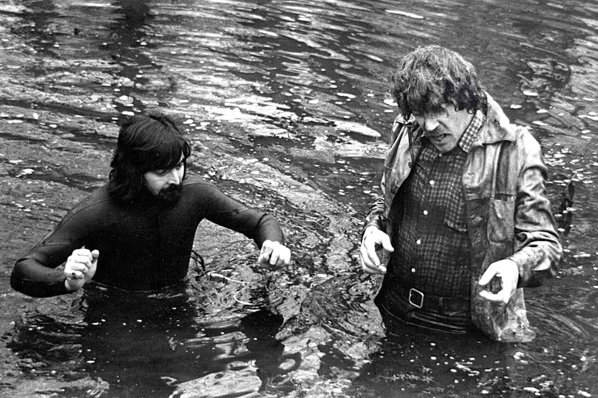 Tony Richmond BSC ASC pictured during production on <em>Don't Look Now</em> with Donald Sutherland