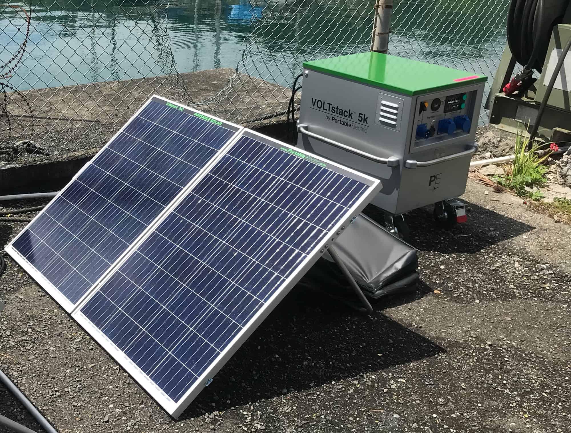 The VOLTstack uses clean, renewable power