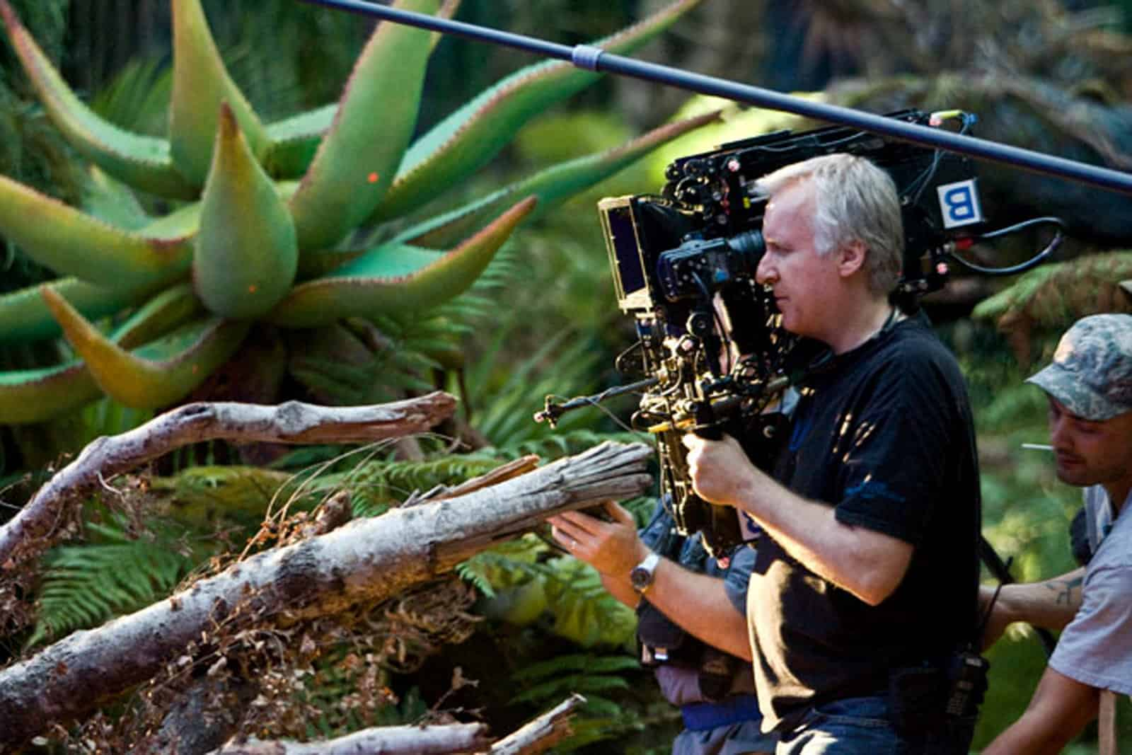 James Cameron with the 3D Fusion Camera System from Pace HD on Avatar (2009)