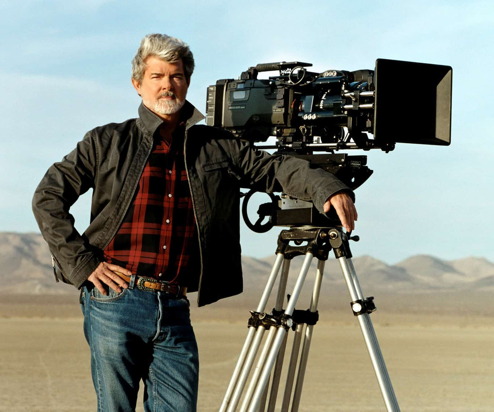 George Lucas in Tunisia shooting digital for Star Wars: Attack Of The Clones (2002)