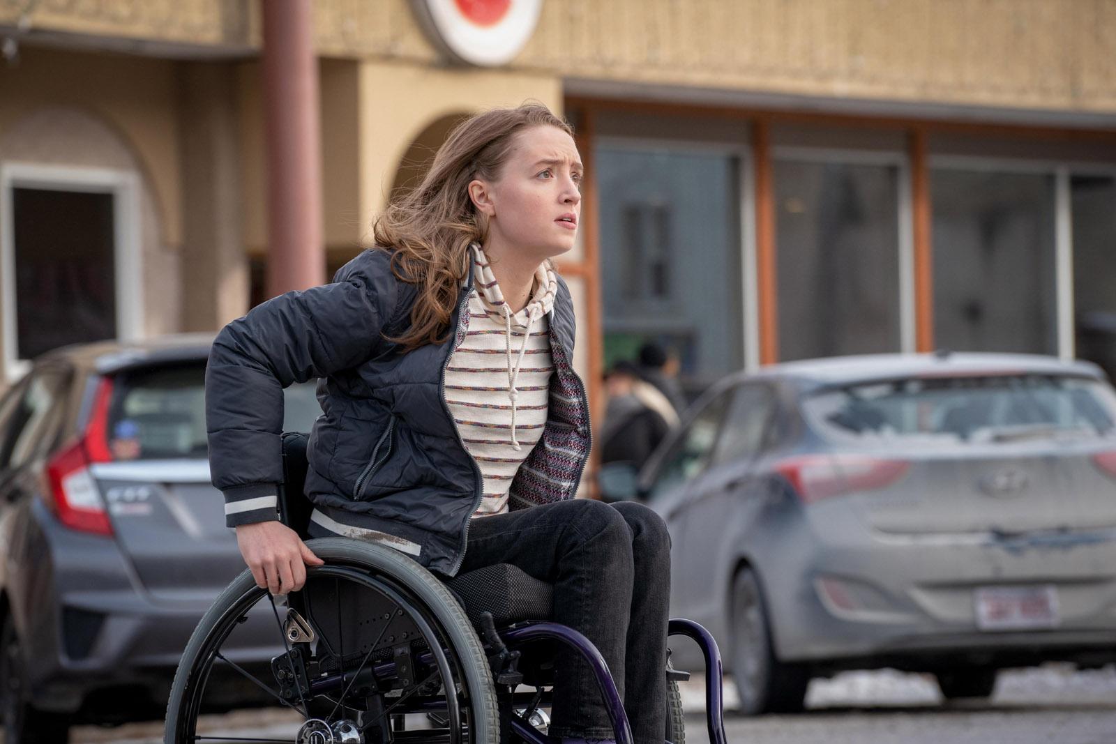 Chloe (Kiera Allen) in Hulu thriller Run (Photo by: Allen Fraser/Hulu)