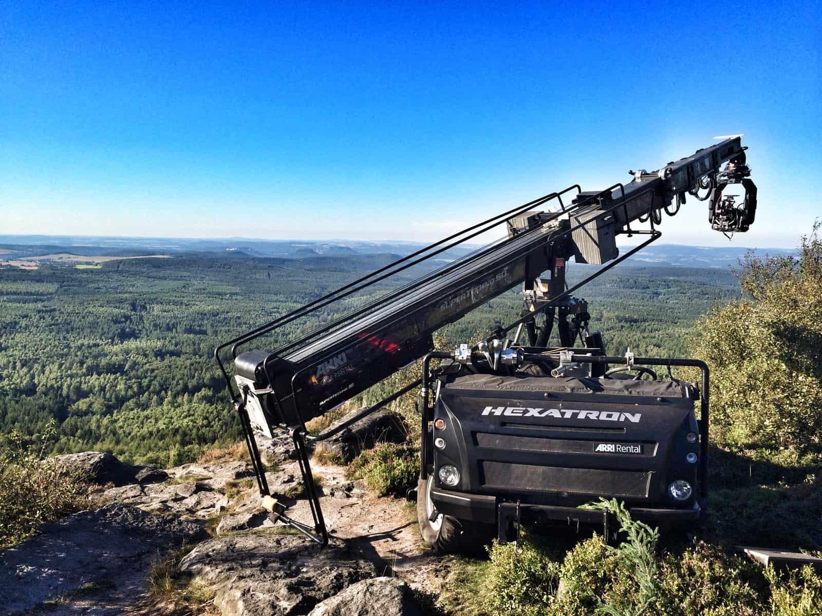 ARRI Hexatron off-road crane positioning system