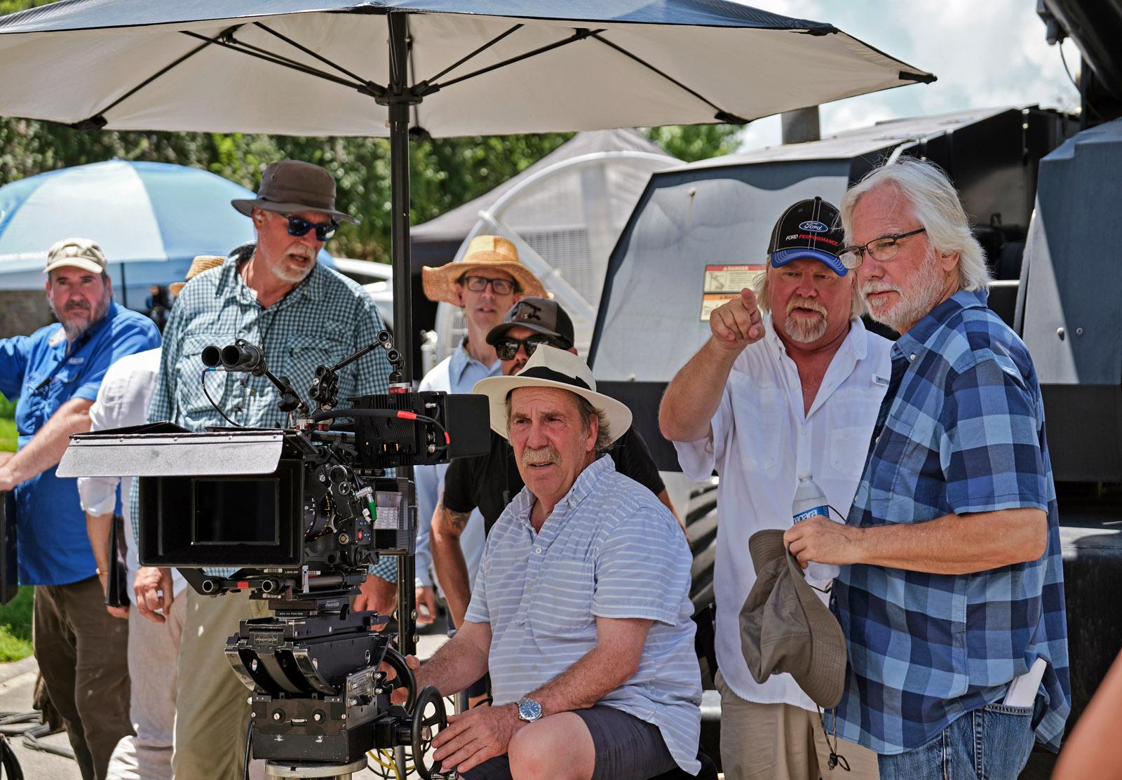 Shelly Johnson ASC (l) with director Dean Parisot (r)